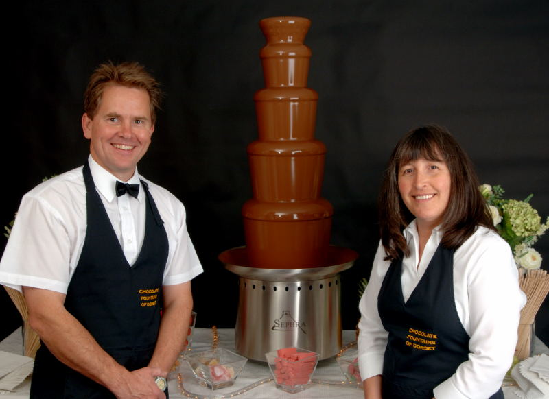 David & Hazel Wilding - The original chocolate fountaineers